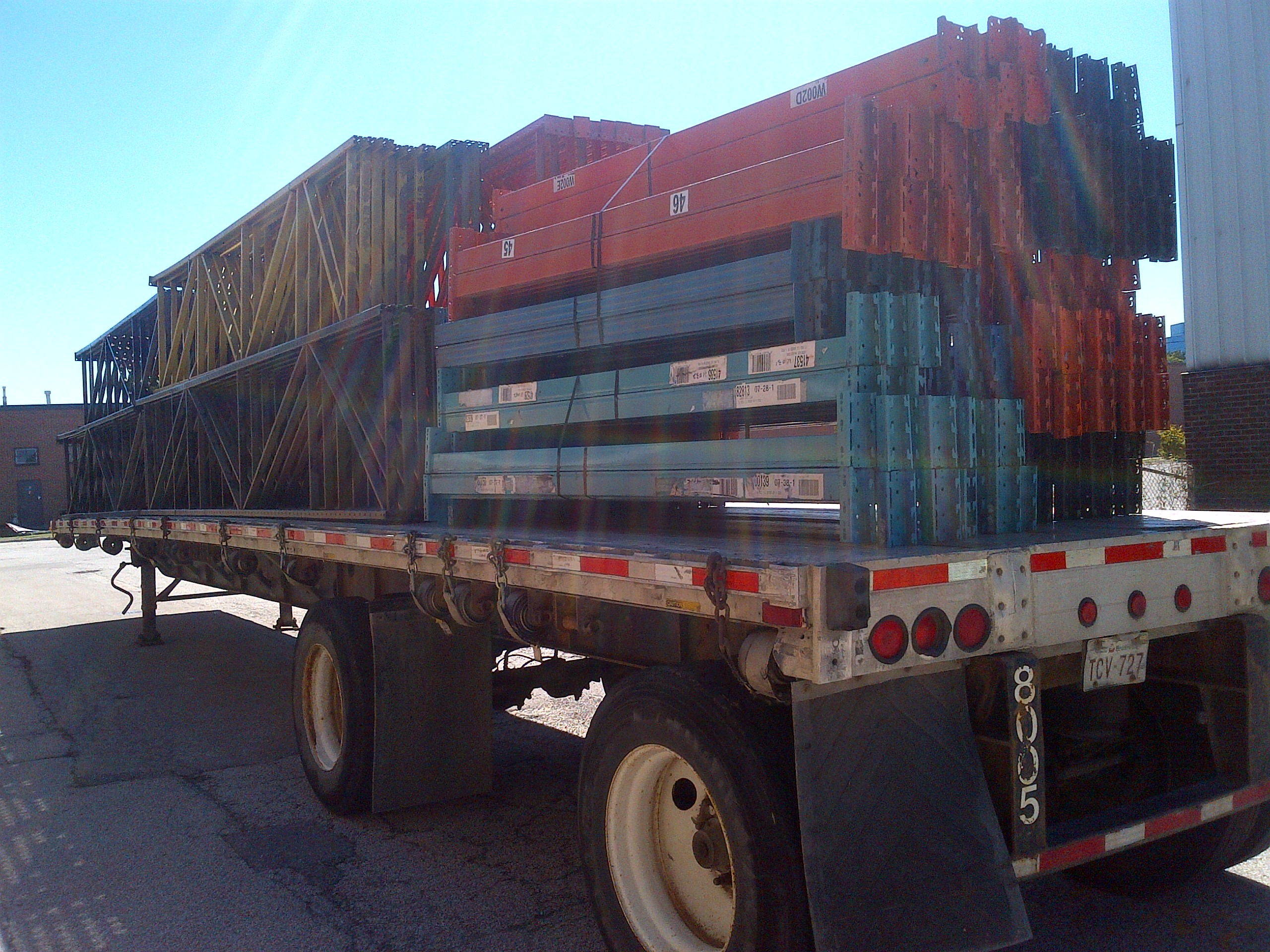 truck loads of used pallet rack