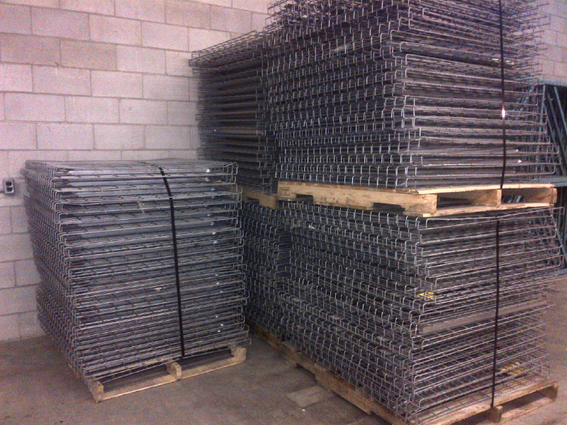 used wire mesh decking for pallet rack