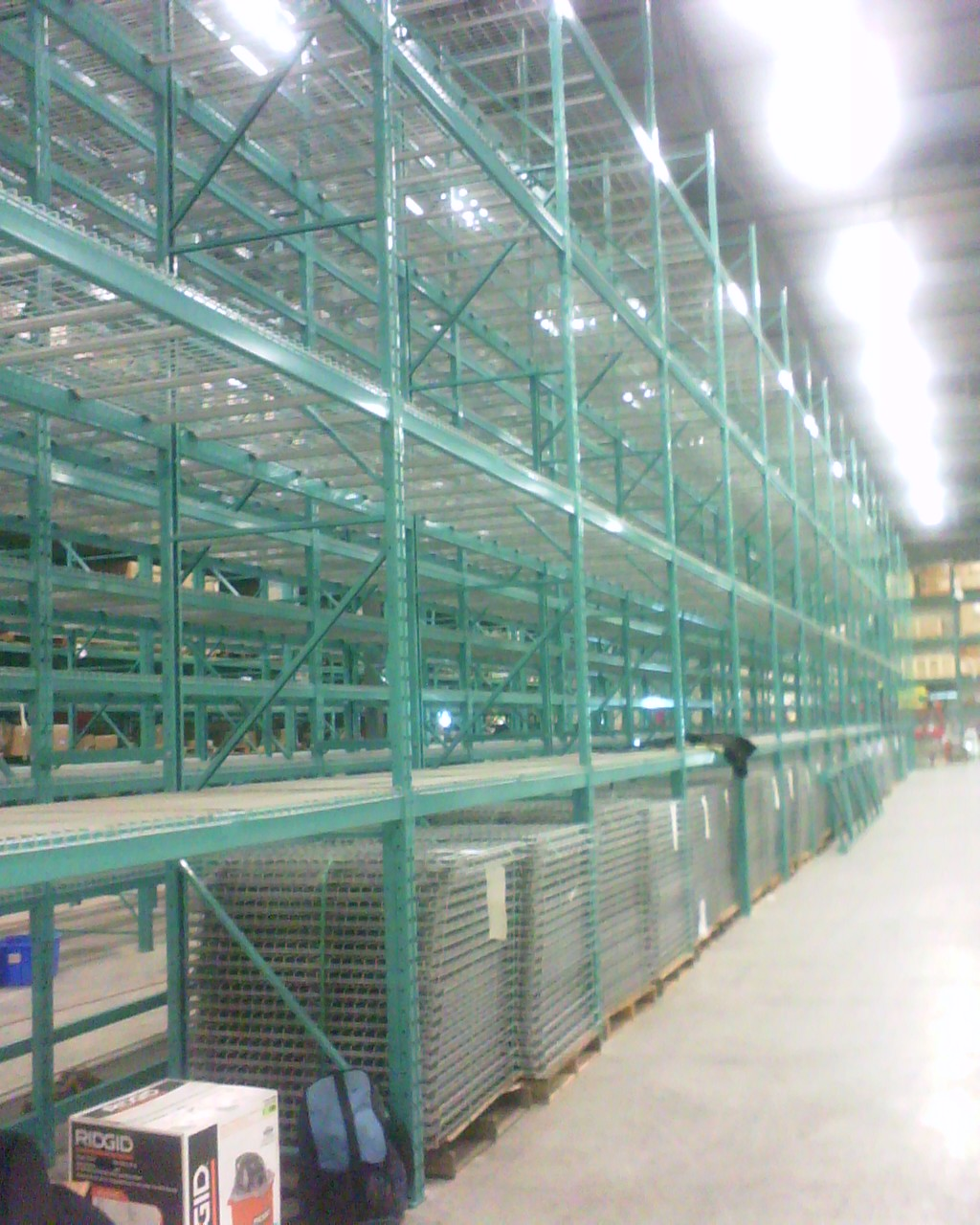 large pallet rack installations